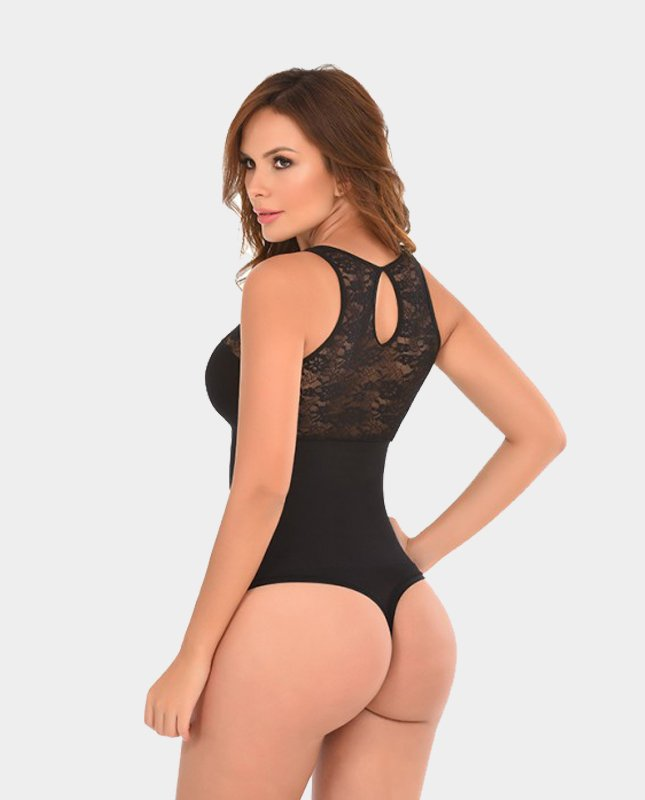 Body-Shaper-with-Lace-in-Front-and-Back-black-back