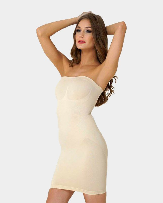 Firm Control Shaping Slip Strapless Dress