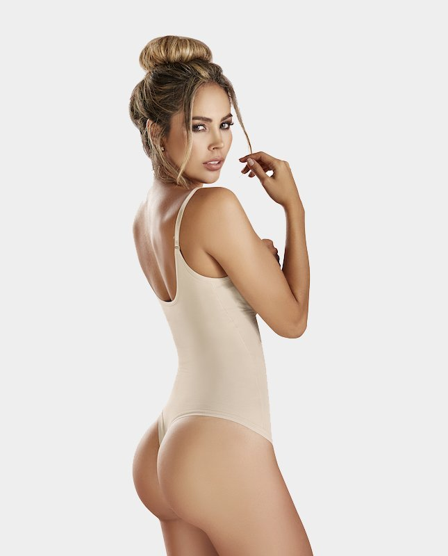 Latex-Thermal-Thong-Body-Shaper-beige-backt