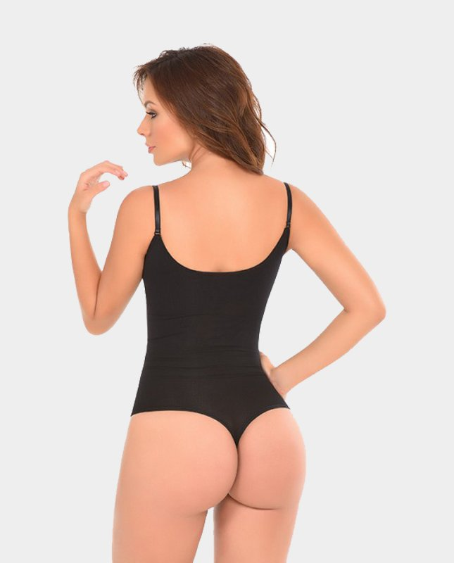 Latex-Thermal-Thong-Body-Shaper-black-back